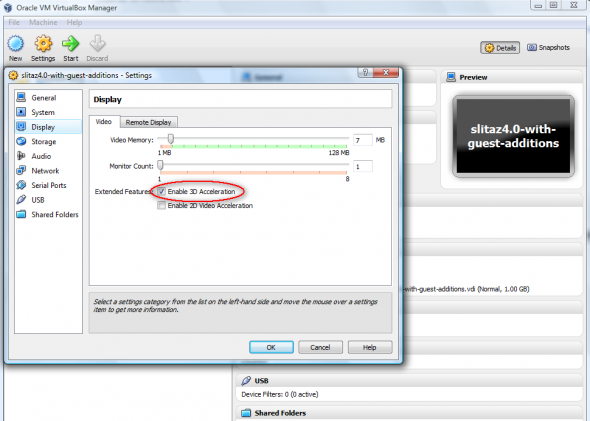 Installing VirtualBox Guest Additions in SliTaz 4 0 Target