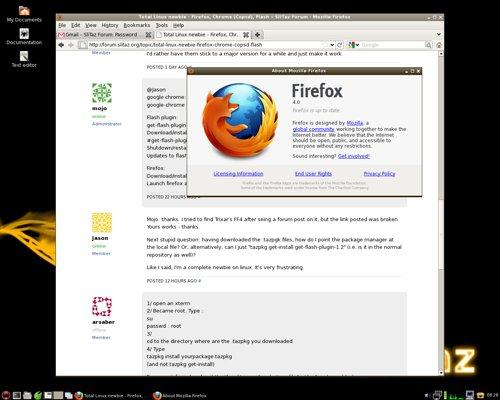 Total Linux newbie - Firefox, Chrome (Copsd), Flash « SliTaz Forum